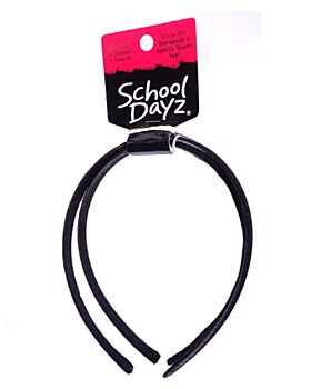 S.D Alice Band- Black Satin 2pk