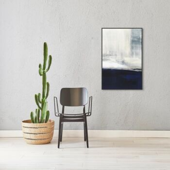 Abstract Art, Navy Blue and White Wall Art