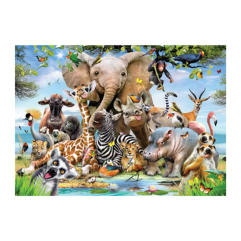 Africa Selfie 1000 Piece Jigsaw Puzzle   The Younglings Are All Posing For You!