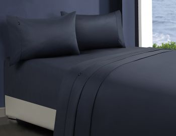 King Single Bed 1000TC Egyptian Cotton Sheet Set in Charcoal