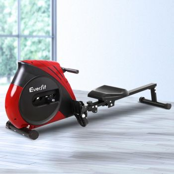 Everfit Rowing Machine Exercise Rower Resistance Fitness Gym Home Cardio
