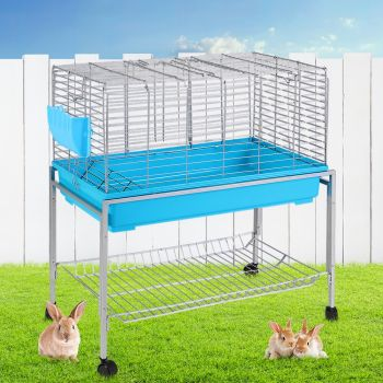i.Pet Rabbit Cage Hutch 97CM Height Cages Indoor Outdoor Hamster Enclosure Carrier Bunny