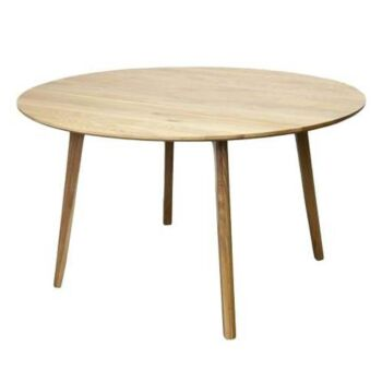 6IXTY Convair Scandinavian Oak Round Dining Table - 130cm