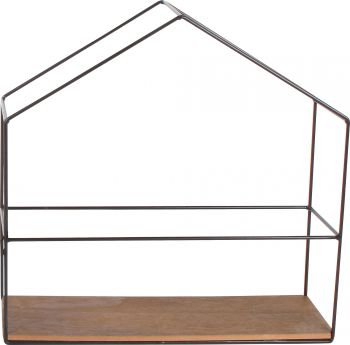 *** CASA DISPLAY SHELF HOUSE BLACK 30 X 30 X 10CM