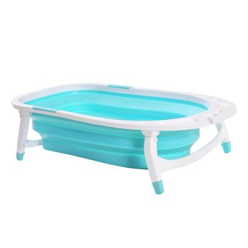 Foldable Infant Safe Bath Tub for Shower in Green