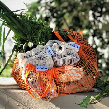 Market Day Shopping Bundle - 6 Produce Bags and Mesh Shopping Tote