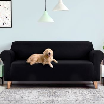 Artiss Sofa Cover Elastic Stretchable Couch Covers Black 1/2/3/4 Seater