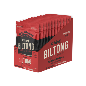 CHIEF NUTRITION Beef and Chilli Biltong 30g (box of 12)