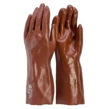 Gloves Pvc Red