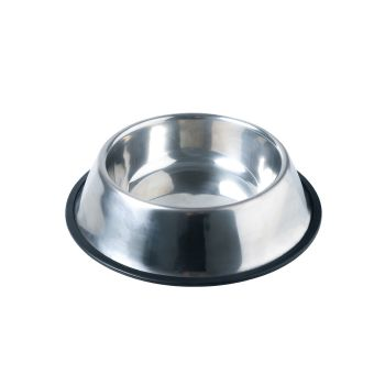 PaWz Pet Bowl Stainless Steel Water Bowls Portable Non Tip Slip Feeder Dog Cat M
