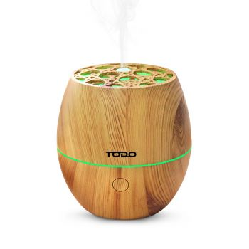 120ml Humidifier Aromatherapy Diffuser 7 Colour Led Ultrasonic Mist - Woodgrain