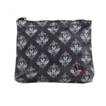 Damask Print Small Cosmetic Bag