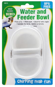 Bird Bowl Feeding 2pc