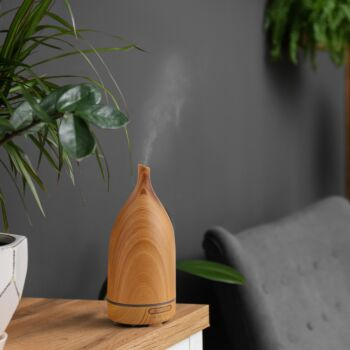 Milano Decor Aroma Diffuser 100ml Ultrasonic Humidifier Purifier And 3 Pack Oils
