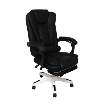 Exective Gaming Chair PU Leather Office Computer Seat in Black
