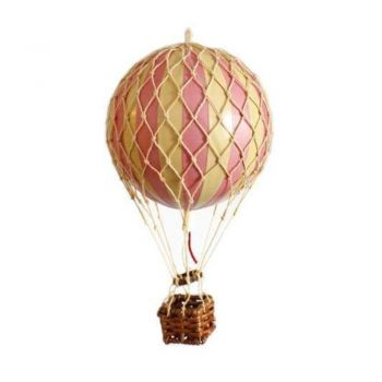 Authentic Models 8.5cm Floating the Skies Hot Air Balloon Ornament - Pink