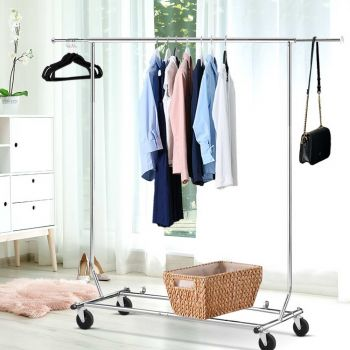 Clothes Coat Rack Stand Portable Garment Hanging Rail Airer Adjustable