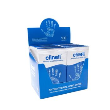 Clinell Antibacterial Hand Wipes - 100 Sachets