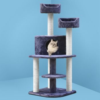 i.Pet Cat Tree Trees Scratching Post Scratcher Tower Condo House Furniture Wood 126cm