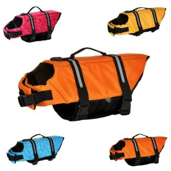 Dog Life Jacket - Pet PFD Buoyancy Safety Life Jacket Float Vest - XS / M / L / XL