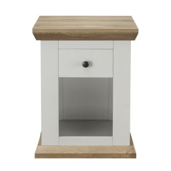 Cosmoliving Bedside Table Cottage Style W45 x H58cm W/Drawer