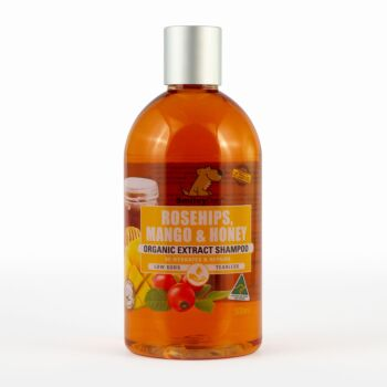 Smiley Dog Organic Rosehips & Mango with Australian Dark Honey Shampoo 500ml