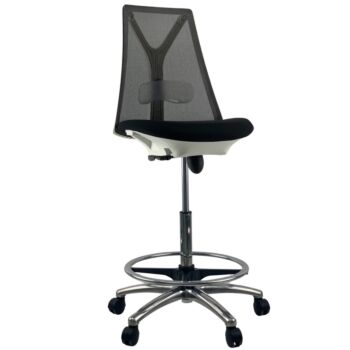 VOGUE WHITE Mesh Drafting Office Chair
