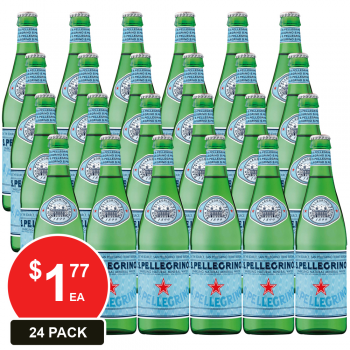 24 Pack, San Pellegrino 500ml Sparkling Mineral Water Glass