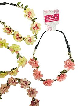 Headband with two-tone flowers