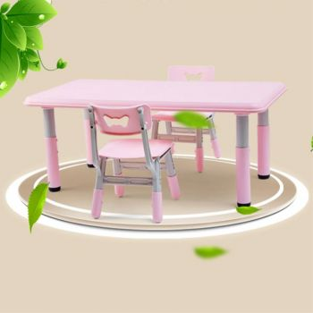 ALL 4 KIDS Alex Height adjustable Table and 2 Chair - Pink