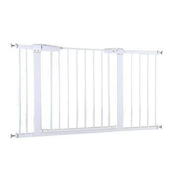 Safety Stair Barrier Gate for Pets and Babies 76cms Tall in White