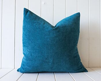 Indoor Cushion - Feather Insert - Dusty Green Corduroy - 50x50