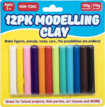 Clay Modelling Coloured 12pk