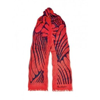 Florence Broadhurst Accessories Fingers Women's Coral Modal Scarf
