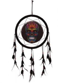 Candy Skull Design Dream Catcher (33cm)