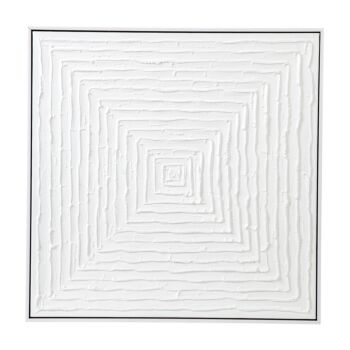 White Vortex Oil On Canvas Painting - Medium