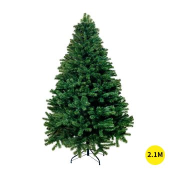 Christmas Tree Plastic Ball Baubles Decoration Kit with LED Lights 2.1M