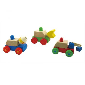 Squeaky Construction Trucks 6p
