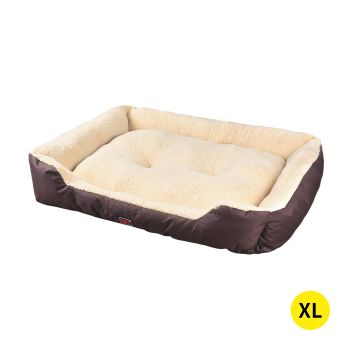 PaWz Pet Bed Soft and Calming Cushion Extra Large Mattress for Pet Dogs and Cats in Brown