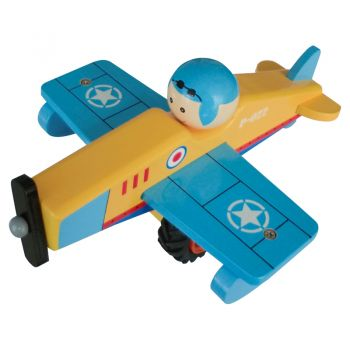 Wooden Airplane-Blue