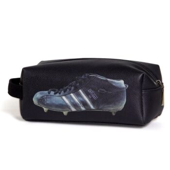 Three Stripes Football Boot Toilet Bag - Black