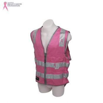 NBCF Zero D/N Safety Vest 3M Perforated Reflective Tape Pink Size S