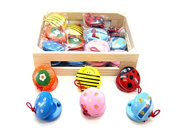 MIXED WOODEN CASTANETS 6S