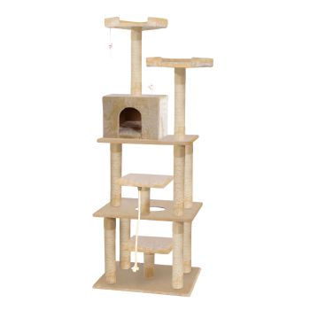 PaWz 1.98M Cat Scratching Post Tree Gym House Condo in Beige