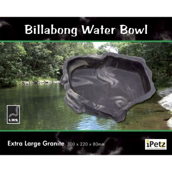 ULTIMATE REPTILE SUPPLIERS BILLABONG WATER BOWL GRANITE XLGE