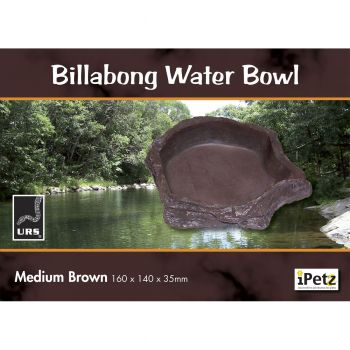 ULTIMATE REPTILE SUPPLIERS BILLABONG WATER BOWL BROWN MEDIUM