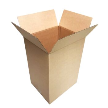 20 Regular Slotted Cardboard Boxes 430 X 370 X 640Mm 100 Litre Capacity [Rsc Shipping Carton] [Tea Chest Moving Boxes]