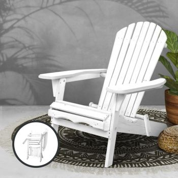 Outdoor Chairs Beach Chair Furniture Wooden Adirondack Lounge Foldable Garden Gardeon