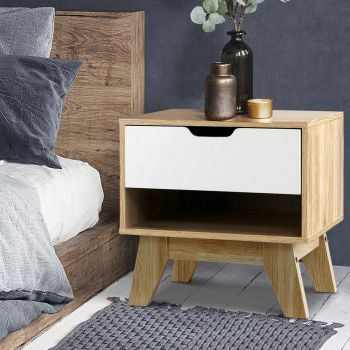 Bedside Tables Drawers Side Table Bedroom Furniture Nightstand Stand Lamp