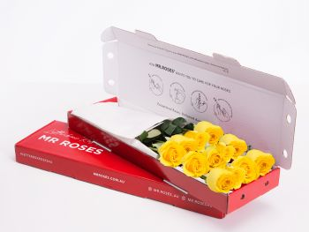 Classic 12 Yellow Roses With Gift Box